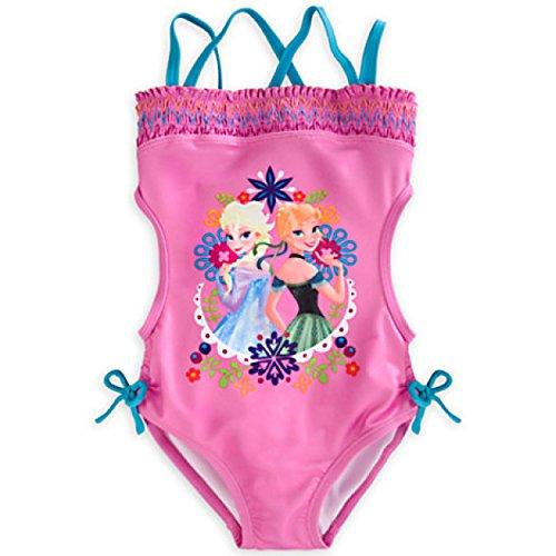 50485bda1fadf Frozen-themed Girls Swimwear with Anna   Elsa