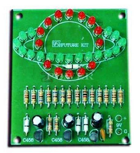 (SATURN'S RING FLASHER 31 LED Electronic Circuit Kit - FREE SHIPPING : FA162)