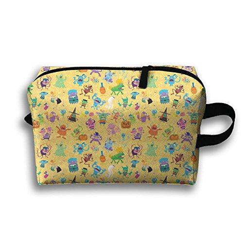 Monsters Picture Cosmetic Bags Makeup Organizer Bag Pouch Zipper Purse Handbag Clutch Bag]()