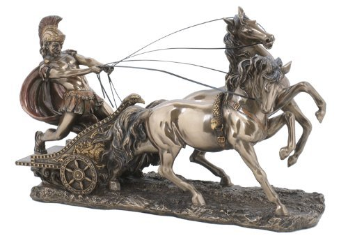 Sale – The Perfect Gift – Roman Chariot Statue Sculpture