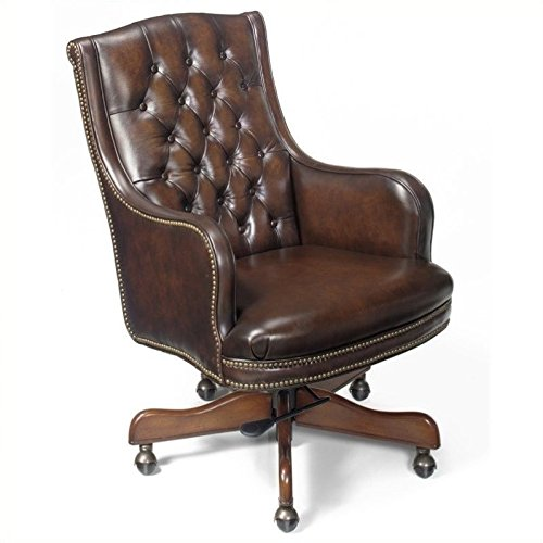 Manchester Leather Office Chair - Hooker Furniture Seven Seas Executive Chair in James River Manchester