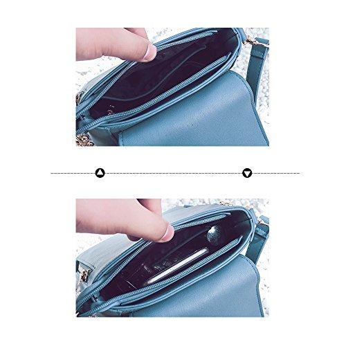 (JVP 1020-C) estilo japonés mochila de las señoras de cuero de LA PU de color azul marino 3way mochila bandolera popular ligero viajero de la escuela bolso de recuperación informal Negro