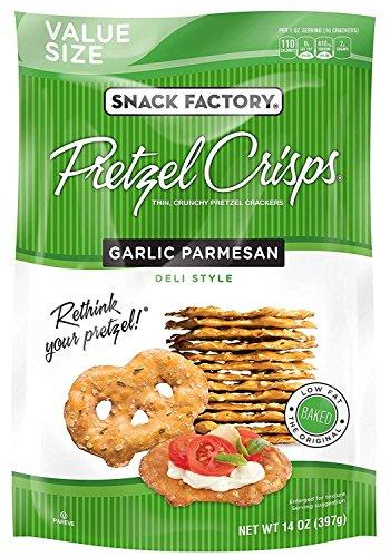 Snack Factory Pretzel Crisps, Garlic Parmesan, 14 Ounce Value Size
