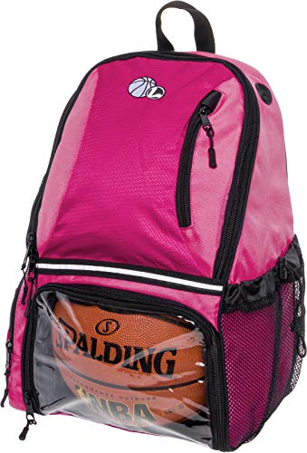 Girls Basketball Bags (LISH Basketball Backpack - Large School Sports Bag w/Ball Compartment)