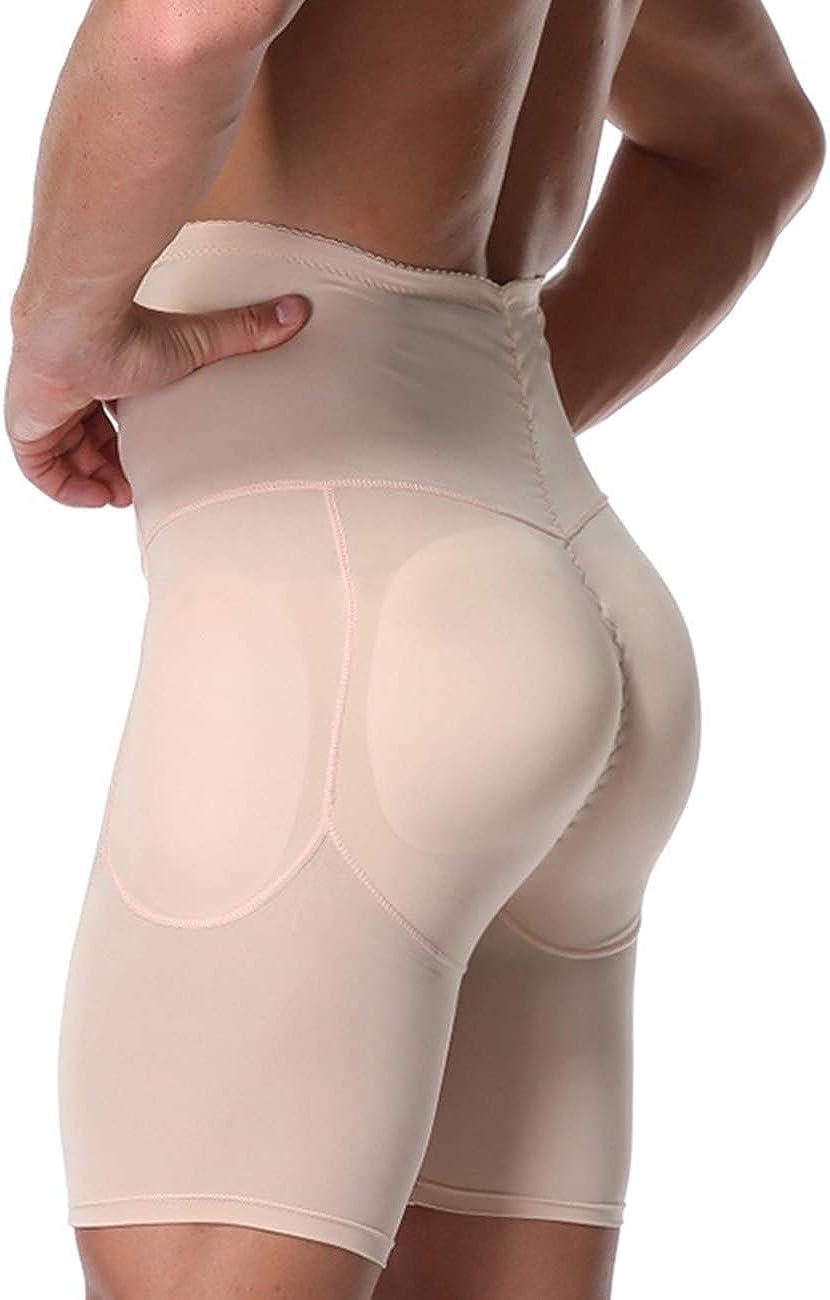 Amazon.com: Men's Padded Briefs Boxer Underwear Tummy Control Shorts High  Waist Body Shaper Enhance Butt Lifter Shapewear Abdomen: Clothing