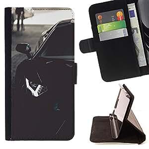 BullDog Case - FOR/Sony Xperia Z1 L39 / - / LAMBO AVENTADOR /- Monedero de cuero de la PU Llevar cubierta de la caja con el ID Credit Card Slots Flip funda de cuer