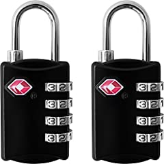 Protect You and Your Partners Luggage With a Secure 4 Digit Combination TSA Approved Padlock Additional Features - Solid construction of high quality zinc alloy and plated steel. - Discourage the thief more than 3-digit locks which often can ...