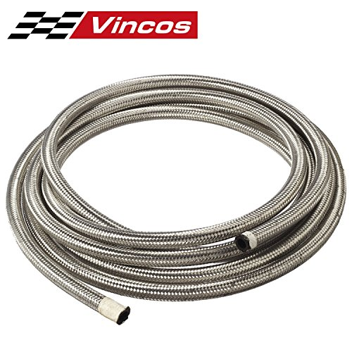 15 Ft 6AN AN6 Universal Braided Stainless Steel CPE Oil Fuel Gas Line Hose