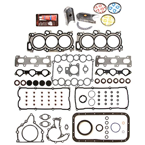 Evergreen Engine Rering Kit FSBRR7010EVE\0\0\0 98-04 Isuzu Honda Acura 6VD1 6VE1 Full Gasket Set, Standard Size Main Rod Bearings, Standard Size Piston (Full Set Housing)