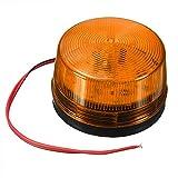 12V orange Flashing LED Light Security Alarm Strobe Signal Safety Warning