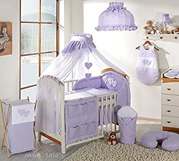 /Blau Bumper-Set f/ür 90/x 40/cm Kinderbett/ 2/St/ück Baby Decke