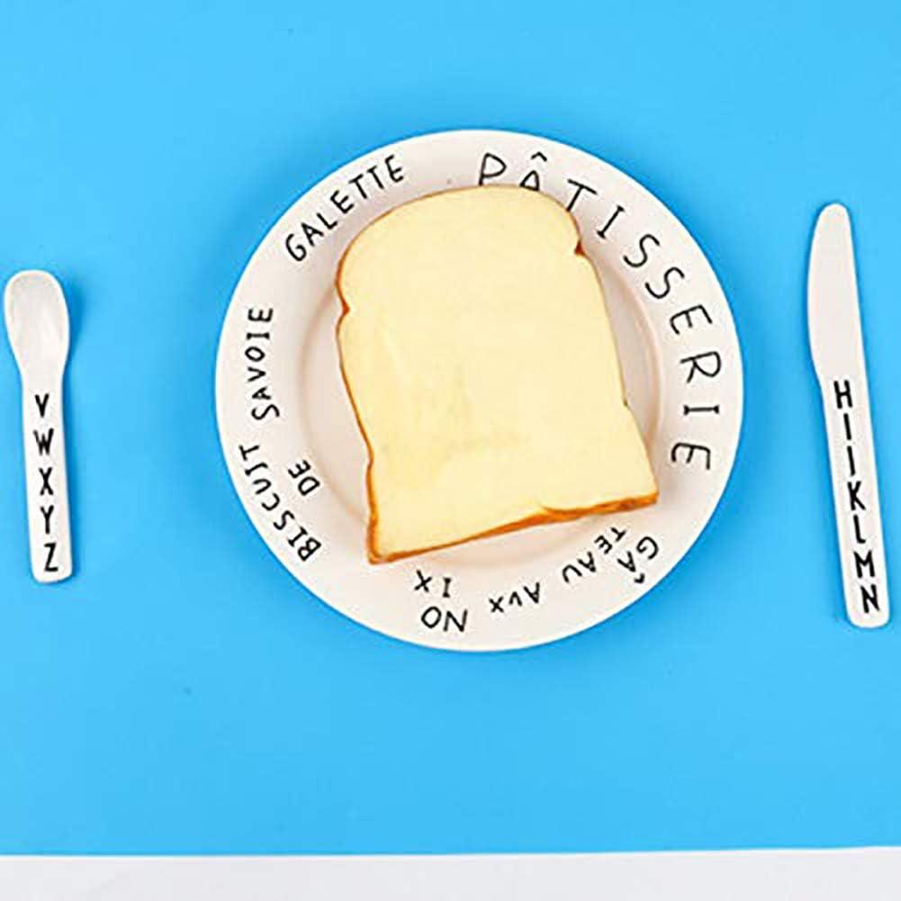 Plateau Enfant Repas 100/% sans BPA bleu + rose Set de Table B/éb/é Assiette Antiderapante pour Chaise Haute Facile /à Nettoyer et Va au Lave-Vaisselle Portable Napperon en Silicone