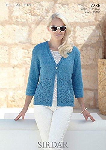 6be2b21b8807 Sirdar Ladies Cardigan Knitting Pattern 7236 DK  Amazon.co.uk  Kitchen    Home
