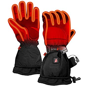 Image of ActionHeat Premium Rechargeable Battery Heated Gloves for Women, Ski Motorcycle Snow Mitten Glove Arthritis, Heats up to 145F Sport