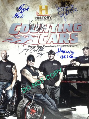 Counting Cars 11x14 cast reprint signed photo by all 4 RP