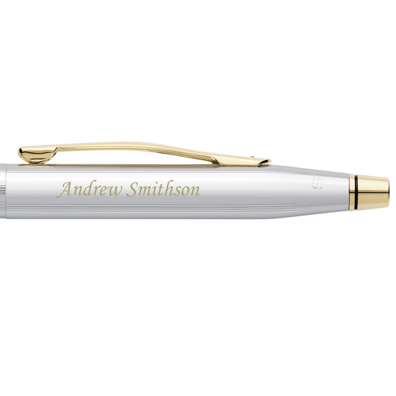 Dayspring Pens   Engraved/Personalized Cross Classic Century Medalist Ballpoint Pen, Chrome and 23 Karat Gold Plated Trim 3302. Custom Engraved Fast 1 day engraving time. by Dayspring Pens (Image #4)