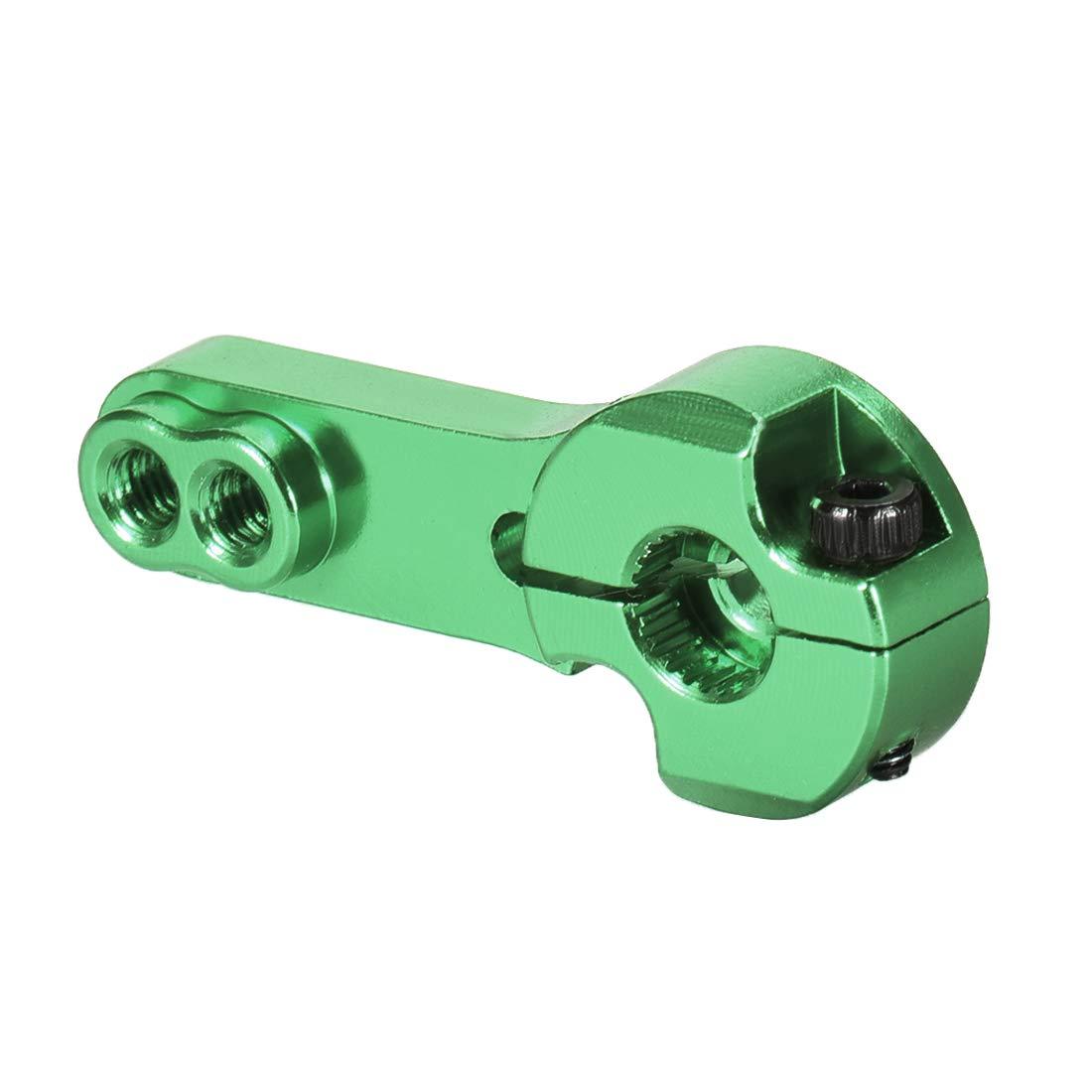 for Futaba Savox Xcore HL HSP HD Power Go Tech,2pcs uxcell Aluminum Servo Horn 25T M3 Thread Green