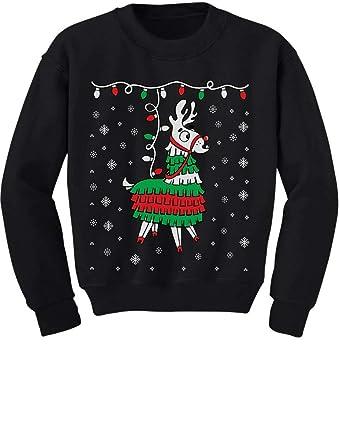 ea9e42fc9844 Amazon.com  Tstars - Llama Pinata Ugly Christmas Sweater Toddler ...