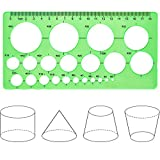 Hestya Circle Template 3 Pieces Plastic Circle