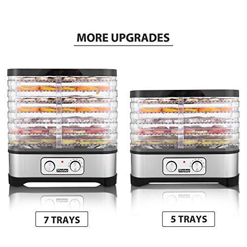 Food Dehydrator Machine Jerky with 7 Trays, Knob Button/250Watt by Hopekings (Image #7)