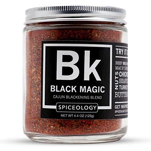 Black Magic - Spiceology Cajun Blackening Blend - Cajun Dry Rub All Purpose Seasoning - 4.4 ounces - Blackening Cajun Seasoning