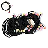 Hair Ties Ponytail Holder Yoga Twist athletics Elastic Hair Rubber Band Women Girl Teen Hair Accessories (20 PCS)