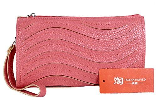 color de de mensajero PU de embrague hombro color R SODIAL de de bolsa Bolso embrague caramelo moda cuero rojo sandia de de de Bolso monedero de pequena de de 6dAwqC1AS