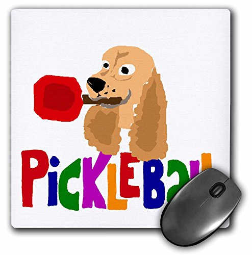 Price comparison product image Funny Pickleball Cocker Spaniel with Paddle - Mouse Pad, 8 by 8 inches (mp_218084_1)