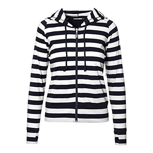 Banned Hoodie Black Striped (Bianco) Bianco