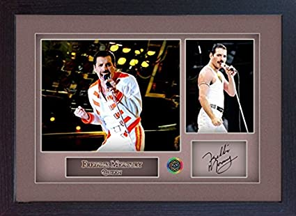 Freddie Mercury Queen signed print photo autograph poster picture Music Framed
