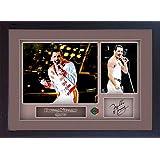 S&E DESING Freddie Mercury Queen signed autograph Music Memorabilia FRAMED