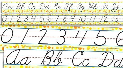 Standard Cursive Alphabet (Scholastic Teacher's Friend Standard Cursive Alphabet and Numbers 0-30 Bulletin Board (TF8034))