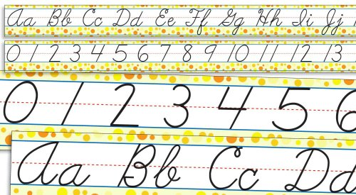 Scholastic Teacher's Friend Standard Cursive Alphabet and Numbers 0-30 Bulletin Board (TF8034)