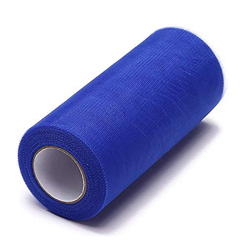 - Glitter Tulle Roll Craft Spool Tutu Skirt Fabric Bolt Christmas Ribbon Wedding Party Decoration Sheets Patchwork Sewing DIY Gift Bow Royal Blue (Royal Blue, 6 inch x 25 Yards)