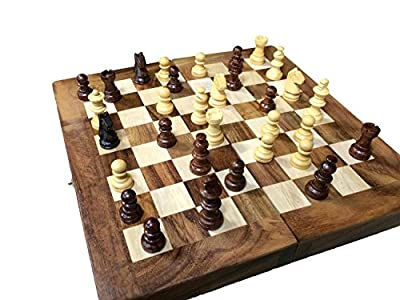 Chess Set - Portable Sisam Wooden Handmade International Chess Set 6 x 6 inch W-40018, Gift for Christmas or Birthday to Your Loved by Affaires