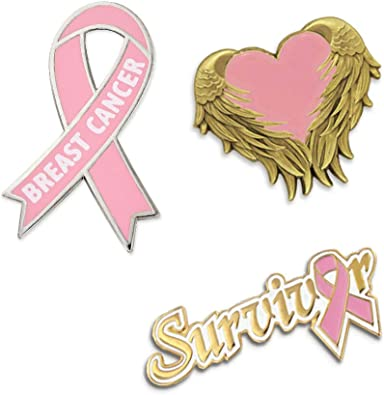PinMart Pink Bra Breast Cancer Awareness Enamel Lapel Pin