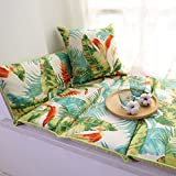 Window sill cushion,Living room bedroom balcony mat sill pad,Simple non-Slip tatami sponge padded cotton -A 60x168cm(24x66inch)