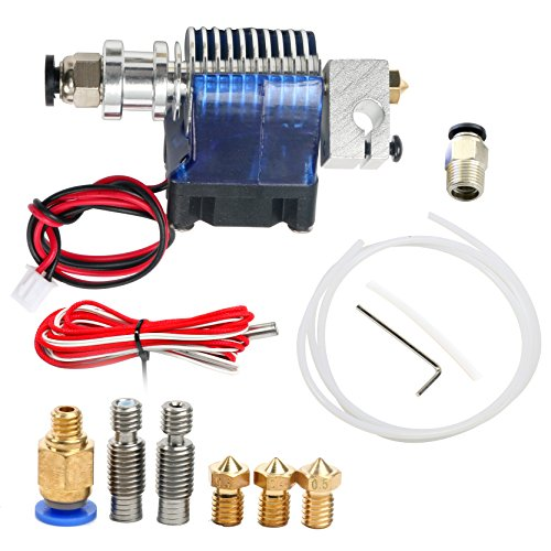 All Metal V6 Hotend 1.75mm Bowden Extruder Prusa i3 Reprap 3D Printer Deluxe Kit by YaeCCC