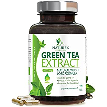 Green Tea Extract 98% Max Potency 1000mg w/EGCG for Weight Loss (Two Month Supply) #1 Rated Fat Burner Pills - Natural Caffeine for Gentle Energy - Boost Metabolism for Healthy Heart - 120 Capsules