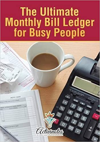 the ultimate monthly bill ledger for busy people activinotes