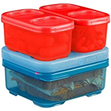 Rubbermaid LunchBlox Kid's Tall Lunch Box Kit, Blue/Red