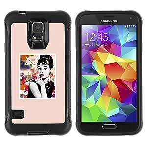 Paccase / Suave TPU GEL Caso Carcasa de Protección Funda para - Poster Movie Star Actress Hollywood - Samsung Galaxy S5 SM-G900