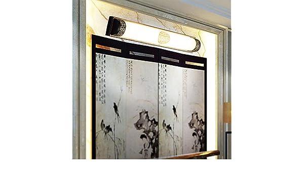 BOOTU lámpara LED y luces de pared Luces delanteras espejo tocador de baño baño baño apliques de luz led, negro 61cm.: Amazon.es: Iluminación