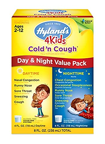 Hyland's 4 Kids Cold 'n Cough Day and Night Value Pack, Natural Relief of Common Cold Symptoms, 8 Ounces