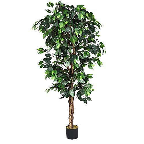 Goplus Artificial Ficus Silk