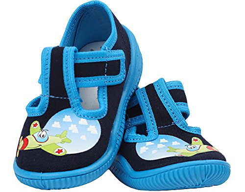 Viggami Niños Pantuflas con Hebilla Casper Navy/Azul