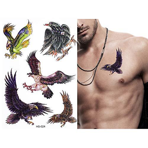 adgkitb 5pcs Mariposa Tigre águila patrón Tatuaje Temporal niños ...