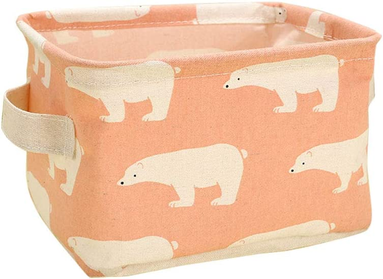 Simple Storage Box for Small Items green 21 * 16 * 13.5CM Cute Doitsa Square Canvas Storage Basket with Handle