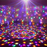 Lightess DJ Lights Rotating Stage Projector Lighting Crystal Stage Ball Sound Activated with Remote for Disco, KTV, Bar, Wedding, Parties,Christmas (9 Colors)