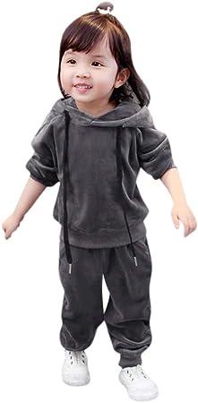 Vectry Ropa para Disfraz Conjunto Niño Bebé Niño Niña Sudadera con Capucha De Dibujos Animados Tops + Pantalones Conjunto De Trajes De Terciopelo Outfits Trajes Otoño Invierno Trajes
